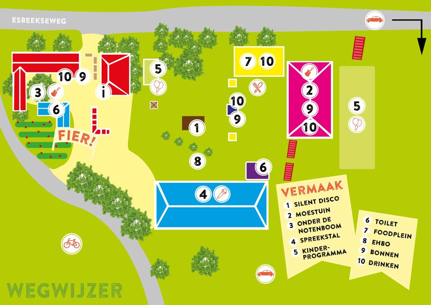 Plattegrond Festival Fier!
